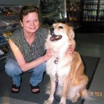 Patty and Timber in 2001 when Timber was about a year old.